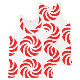 Big Peppermint Holiday Candy All-Over Tank Top