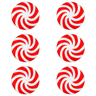Big Peppermint Holiday Candy Button Covers