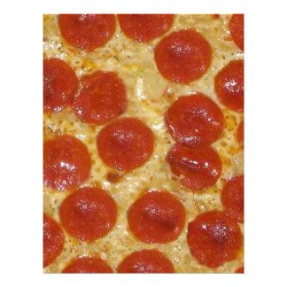 big pepperoni pizza letterhead