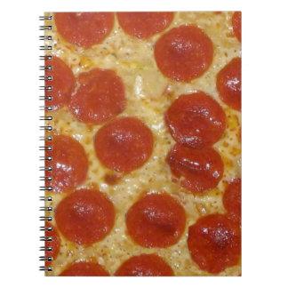 big pepperoni pizza notebook