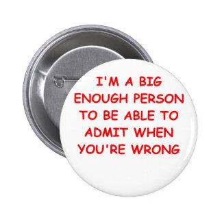 big person pinback button