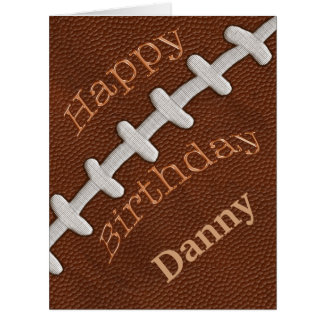 BIG Personalized Football Birthday Cards YOUR TEXT