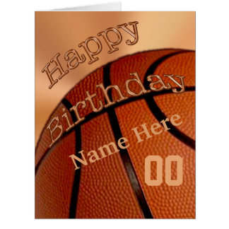 BIG Personalized Happy Birthday Basketball Cards