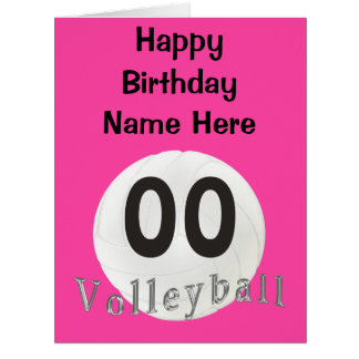 BIG PERSONALIZED Volleyball Birthday Cards