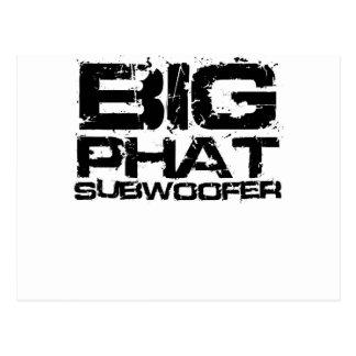 Big Phat Subwoofer Dubstep Postcard