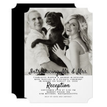 Big Photo Newlyweds Marriage Announcement