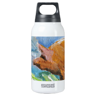 Big Pig 10 Oz Insulated SIGG Thermos Water Bottle