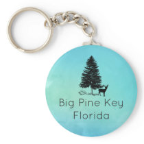 Big Pine Key Florida with Pine Deer & Conch Keychain