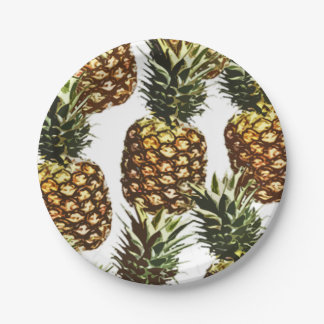 big pineapples (BGC transparent) Paper Plate