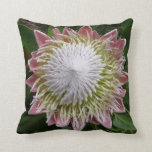Big Pink and White Flower Nature Floral Throw Pillow