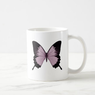 Big Pink & Black Butterfly - Personalize Coffee Mug