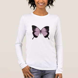 Big Pink & Black Butterfly - Personalize Long Sleeve T-Shirt