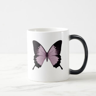 Big Pink & Black Butterfly - Personalize Magic Mug