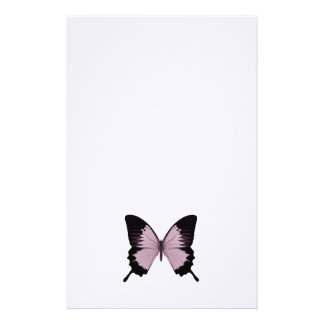 Big Pink & Black Butterfly - Personalize Stationery