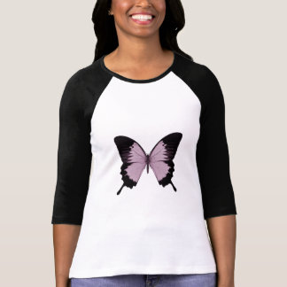 Big Pink & Black Butterfly - Personalize T-Shirt
