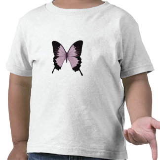 Big Pink & Black Butterfly - Personalize T-shirts