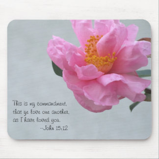 Big Pink Flower/Love One Another Mouse Pad