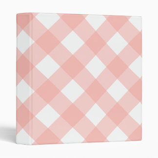Big Pink Gingham Binder