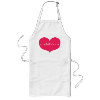 Big Pink Heart Valentine's Day Apron