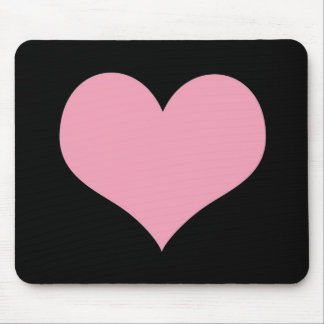 Big Pink Love Heart Mouse Pad