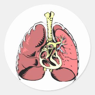 Big Pink Lungs Classic Round Sticker