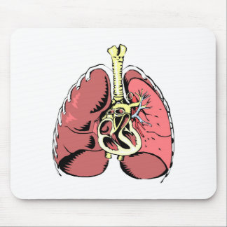 Big Pink Lungs Mouse Pad