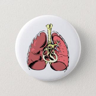 Big Pink Lungs Pinback Button