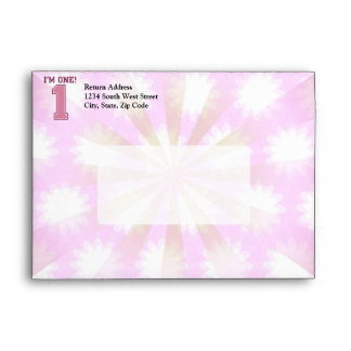 Big Pink Number One, Girl's First Birthday Envelope