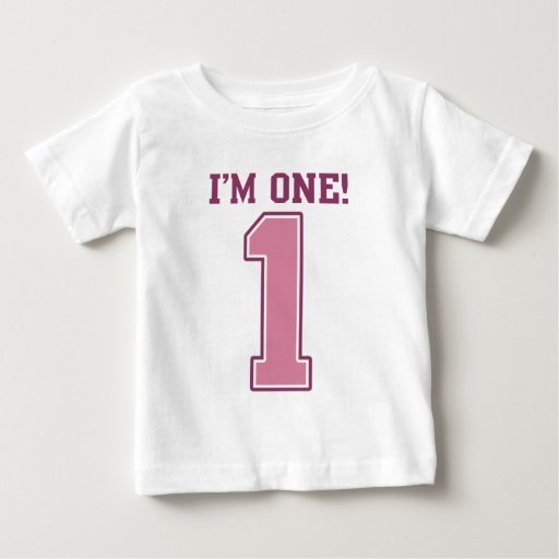 Big Pink Number One, Girl's First Birthday T-shirts