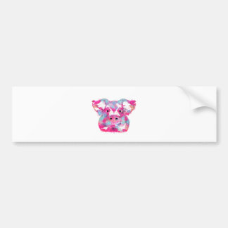 Big pink pig dirty ego bumper sticker