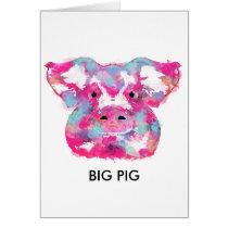 Big pink pig dirty ego card