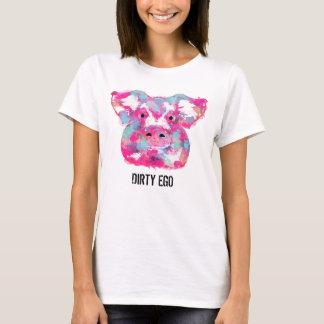 Big pink pig dirty ego T-Shirt