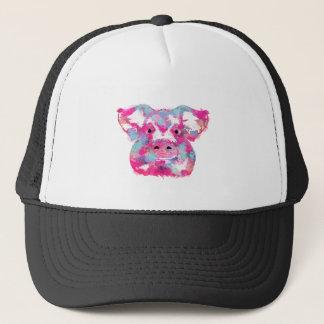 Big pink pig dirty ego trucker hat