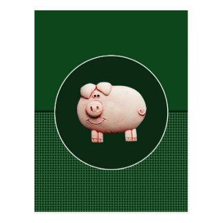Big Pink Pig Postcard