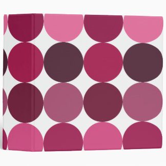 Big Pink Polka Dots Binder