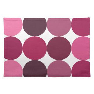 Big Pink Polka Dots Pattern Placemat