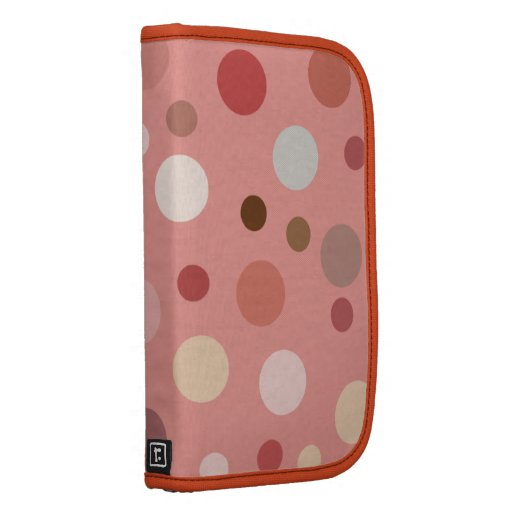 Big Pink Polka Dots Smartphone Folio Planner