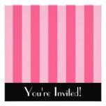 Big Pink Stripes Invitation
