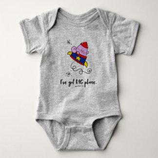 Big Plans Cartoon Astronaut Cat Baby Shirt