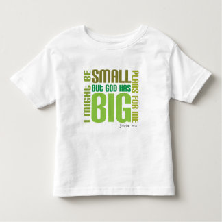 Big Plans Christian toddler t-shirt