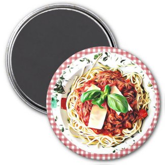 Big Plate of Spaghetti Refrigerator Magnet