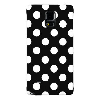 Big Polka Dots Black And White Galaxy Note 4 Case