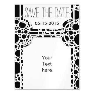 Big Polka Dots black + your backgr. &  ideas Magnetic Card