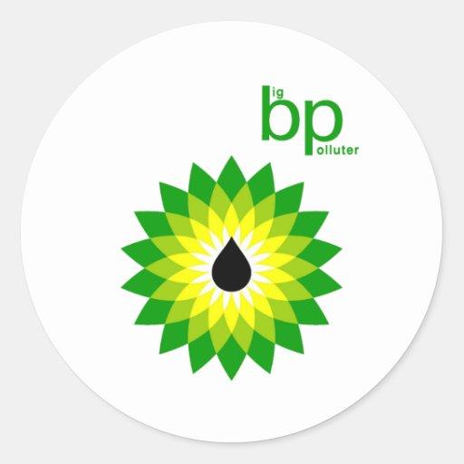 Big Polluter Round Stickers