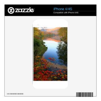 Big Pond Catskills Autumn Paradise Decals For iPhone 4