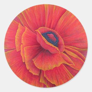 Big Poppy 2003 Classic Round Sticker