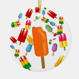 Big Popsicle Chaos by Ana Lopez Ceramic Ornament