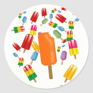 Big Popsicle Chaos by Ana Lopez Classic Round Sticker