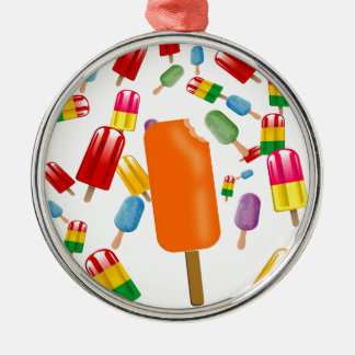 Big Popsicle Chaos by Ana Lopez Metal Ornament