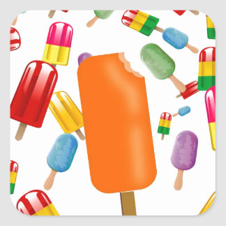 Big Popsicle Chaos by Ana Lopez Square Sticker